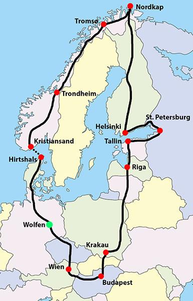 Weltenradler Thomas Meixner Reisen Nordkap